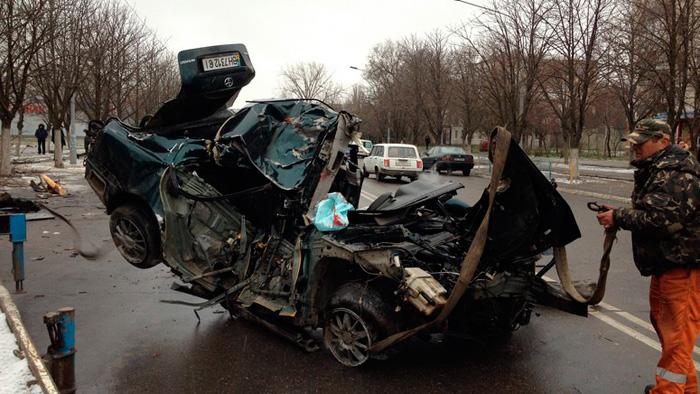 Автокатастрофа на дороге