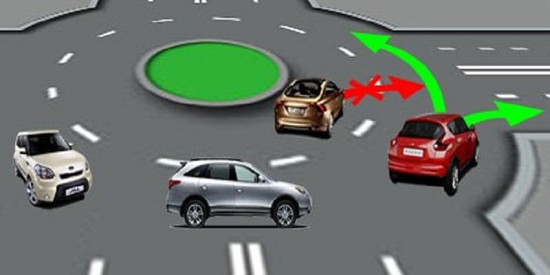 Правила дорожного движения выезда с кольца