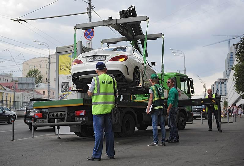 Незаконно эвакуированный автомобиль